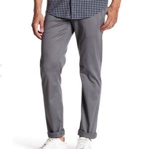 WALLIN & BROS Mens Grey Twill Chino Pants
